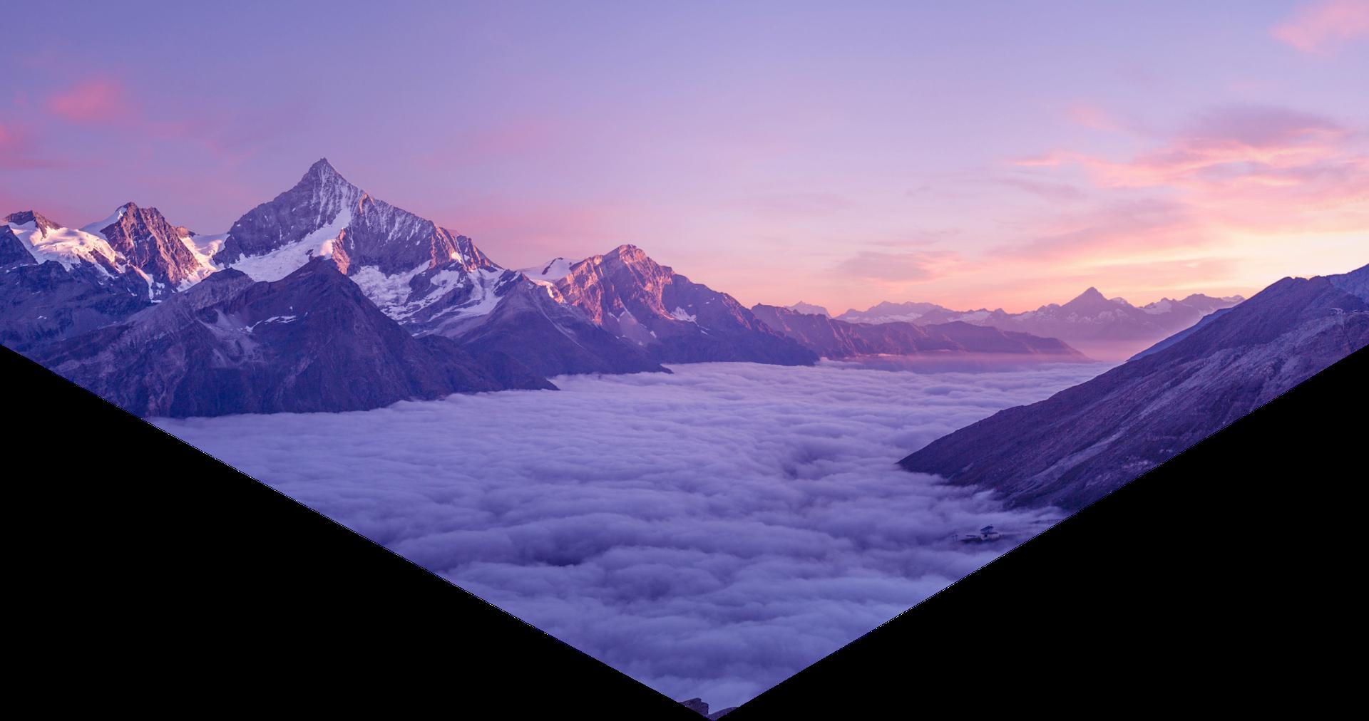 Hero image of mountains